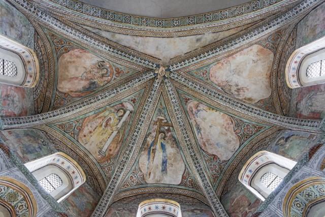 La voûte du choeur de la Basilique © Musées cantonaux, Sion; B.Dubuis et M. Martinez