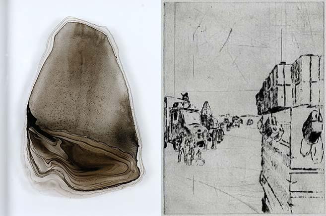 Oeuvres des artistes présentes dans les collections de l'artothèque