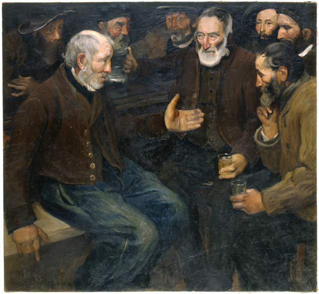 Musées Cantonaux, Sion; Ernest Biéler (1863-1948), Veillée, 1904. Huile sur toile. 130.5 x 139 cm. Photo: Heinz Preisig